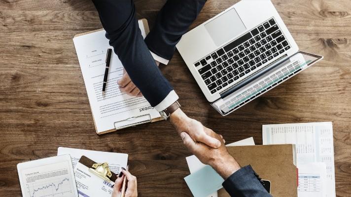 business benefits handshake