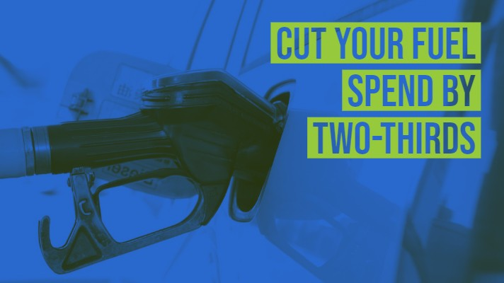 cut your fuel spend on your company car by two thirds
