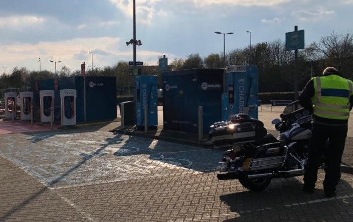 ev charging - euro tunnel entrance